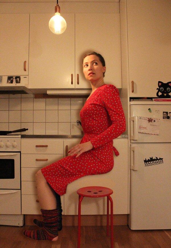 ekologisk klänning i teaterpjäs
