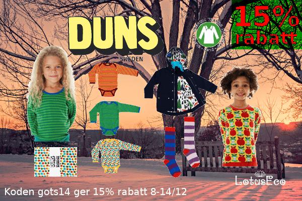 rea ekologiska barnkläder duns sweden