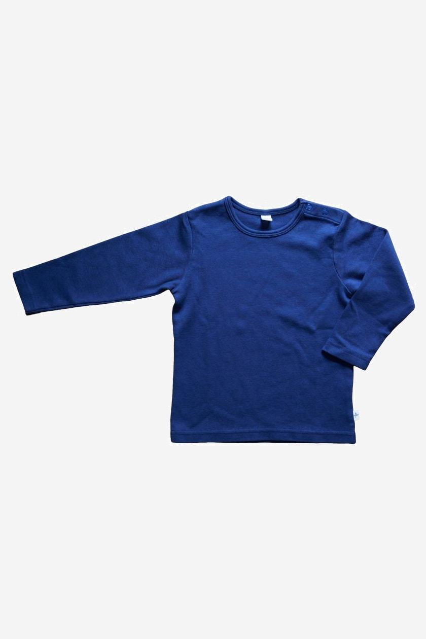 barntröja enfärgad marinblå