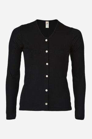 cardigan ull/silke svart