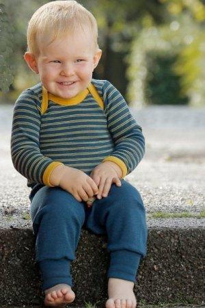 Ullbyxa baby denimblå stl 50-92