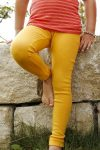 Ulleggings barn solgula stl 140-164
