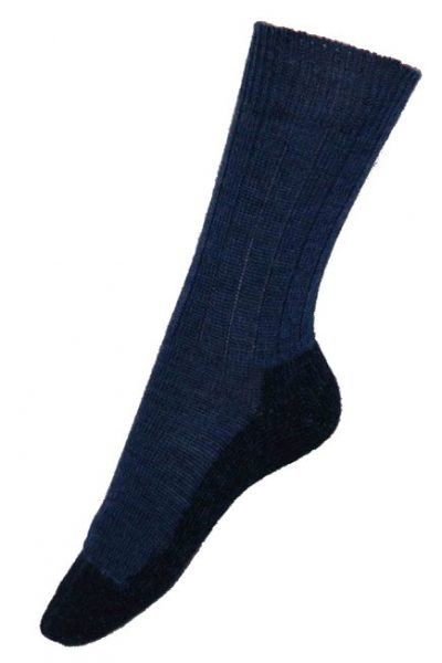 ullstrumpor vandring denimblå/mörkblå