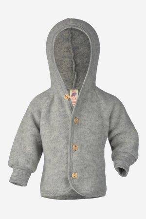 jacka ullfleece baby grå