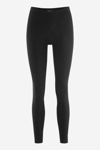 Leggings i bomull svart