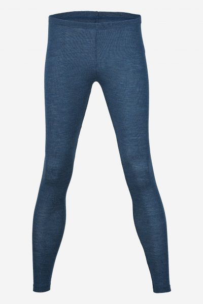 Leggings i ull denimblå