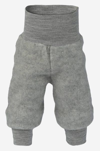 byxa ullfleece baby grå