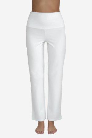 yogabyxor hög midjemudd vit modell