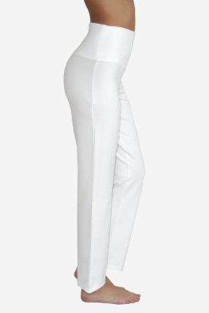 yogabyxor hög midjemudd vit modell sidan