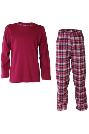Pyjamas barn unisex flanell/trikå