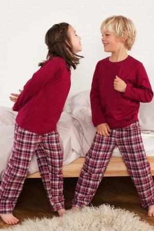 Pyjamas barn unisex flanell/trikå modell