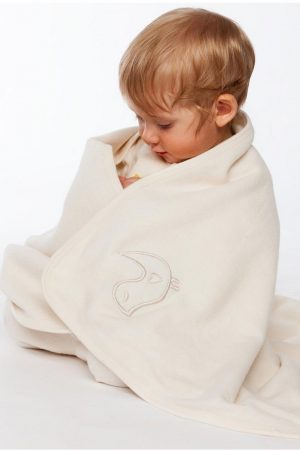 Babyfilt flanell naturvit