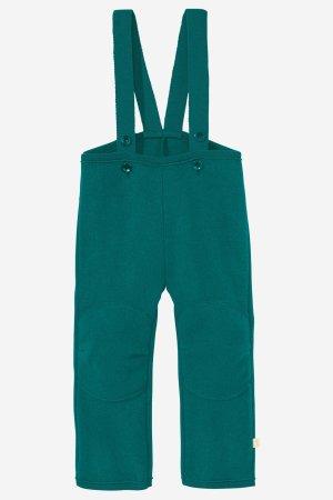 byxor hängselmodell filtad ull baby/barn petrolgrön