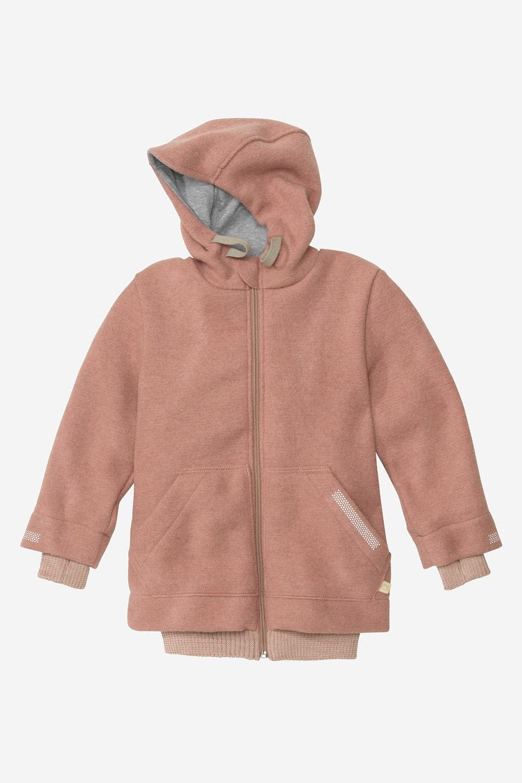 Jacka outdoor filtad ull barn rosa