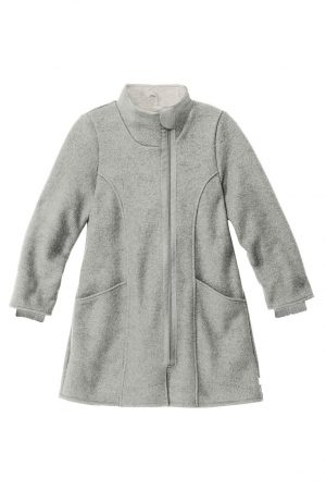 kappa filtad ull dragkedja barn gråmelerad