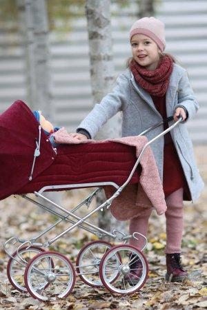 kappa filtad ull dragkedja barn gråmelerad modell