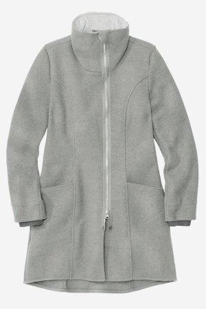 kappa filtad ull dragkedja dam gråmelerad