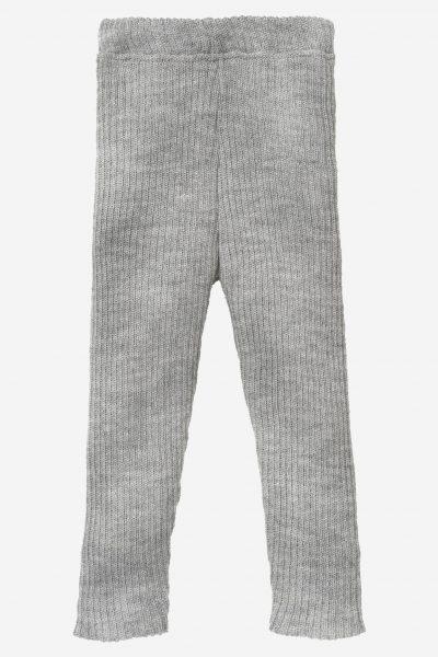 Leggings stickad ull baby/barn, stl 50-140 gråmelerad