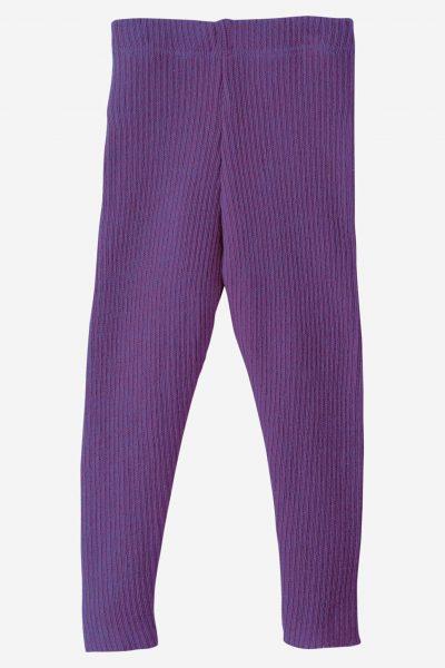 Leggings stickad ull baby/barn, stl 50-80 lila