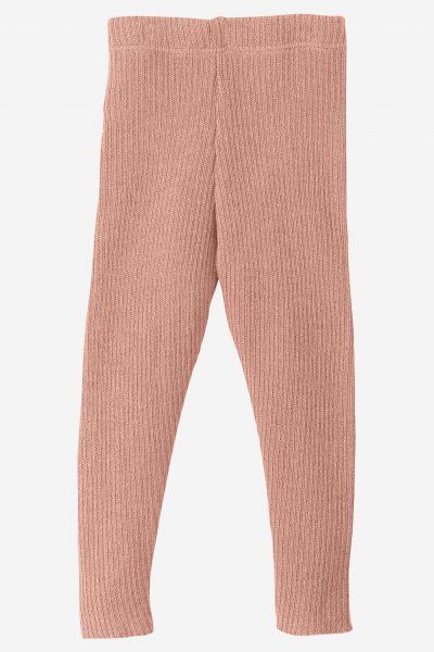 leggings stickad ull baby/barn rosa