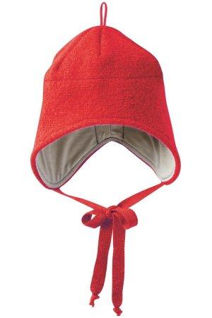 mössa hjälm filtad ull baby röd
