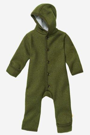 overall filtad ull baby mörkgrön
