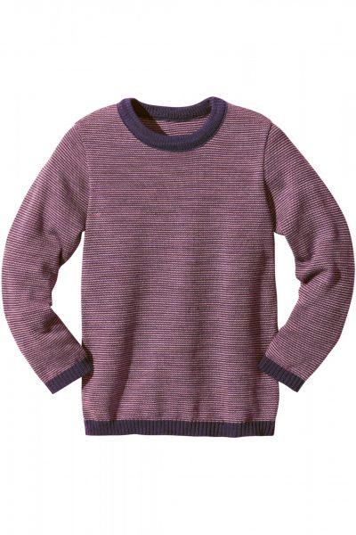 Tröja barn stickad ull melerad stl 98 140 2 färger