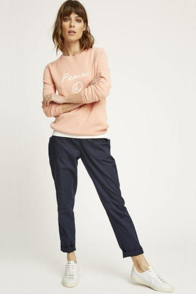 Byxor 7/8 längd Claudia marinblå