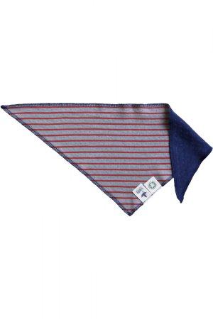 dregellapp marinblå/vit prickig grå/röd randig