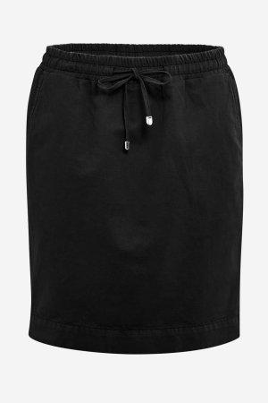 kjol bomull/lin svart