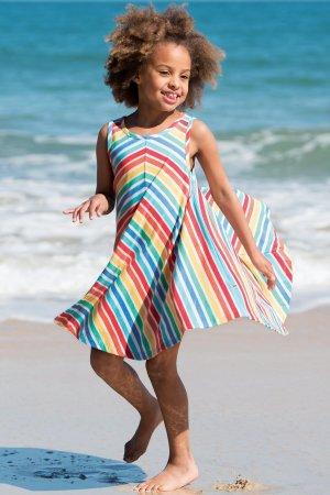 klänning ärmlos rainbow modell