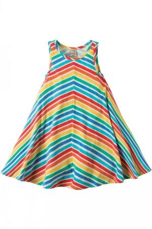 klänning ärmlos rainbow