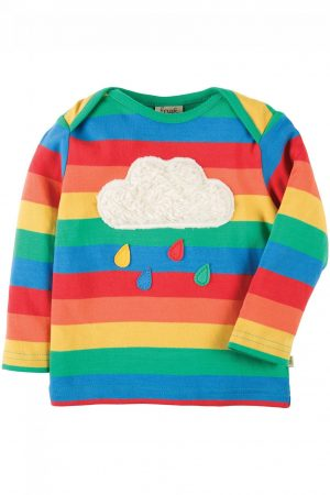 tröja långärm applikation regnbåge