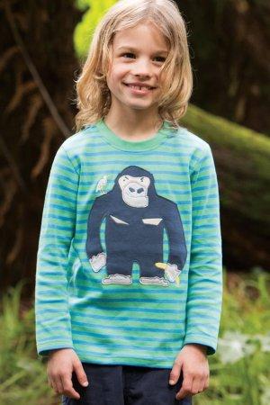 tröja långärm randig applikation gorilla modell