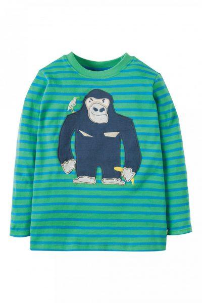 tröja långärm randig applikation gorilla