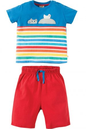 t-shirt shorts sommarkit applikation