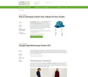 blogga om ekologiska kläder