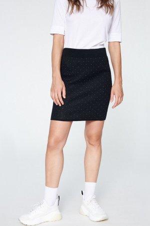 kjol beke svart prickig modell