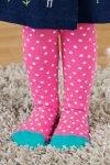 Strumpbyxor barn rosa rand/prick, 1-6 år