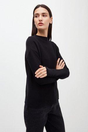 tröja stickad medinaa svart modell