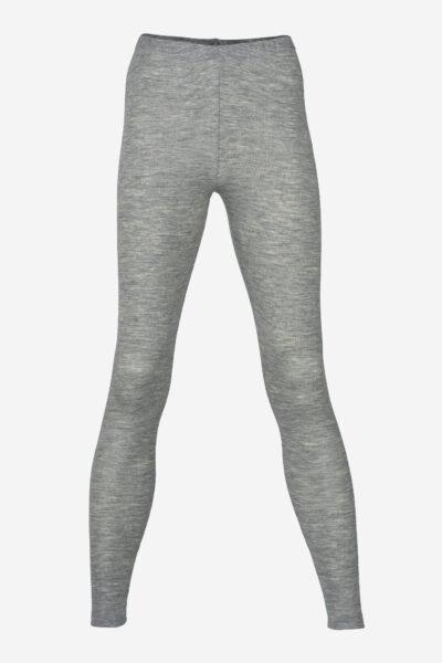 ekologiska leggings ull/silke gråmelerad