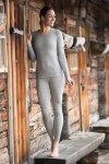 ekologiskt underställ ull/silke dam gråmelerad modell