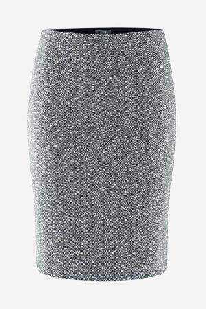 kjol fiskbenmönster grå