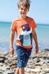 Barntröja kortärm applikation pilgrimsfalk, 2-9 år