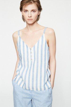 linne ilaa lin blå/vit randig modell