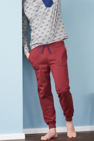 pyjamas herr cyklar grå/röd modell