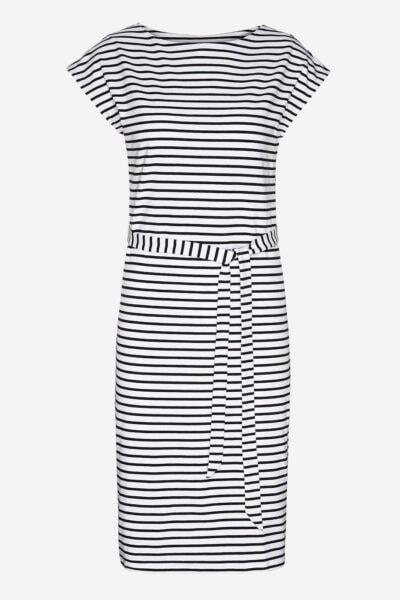 klänning aladaa svart/vit randig