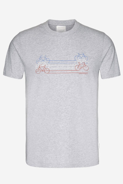 t-shirt jaames tricycle gråmelerad
