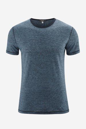 T-shirt 100% ekolin ANDY finrandig blå/marinblå