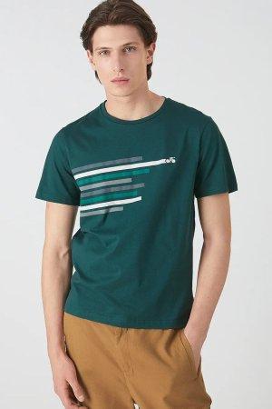 t-shirt bike lines jaames mörkgrön modell